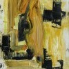 """""""y-b metamorphosis"""", oil paint on paper/print, A4, 2019"""